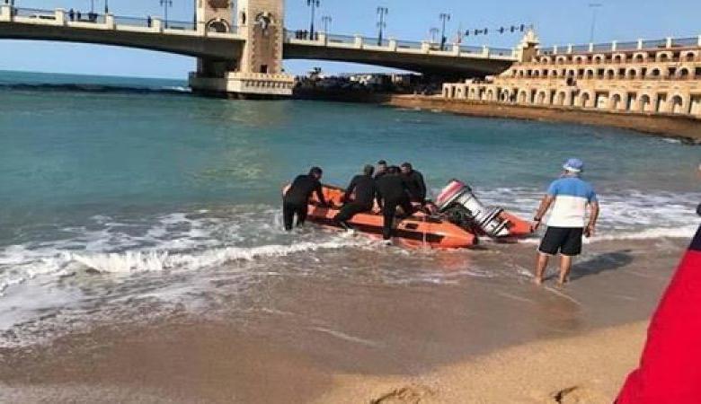 إنقاذ شاب ألقى بنفسه من أعلى كوبري ستانلي بالإسكندرية