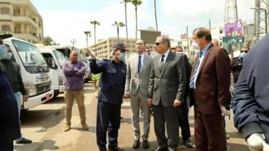 محافظ كفر الشيخ يشرف على معايير التطهير والتعقيم في الشوارع