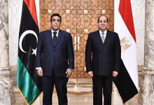 الرئيس السيسي مع رئيس المجلس الرئاسي الليبي