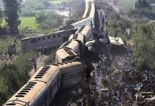 حادث قطار سوهاج.. وفاة 32 وإصابة 66 آخرين