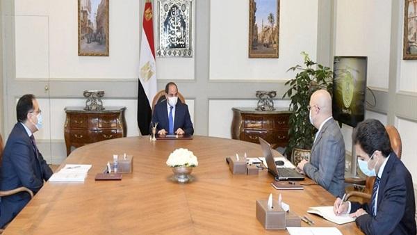 الرئيس السيسي يتابع الموقف التنفيذي لمشروعات وزارة الإسكان