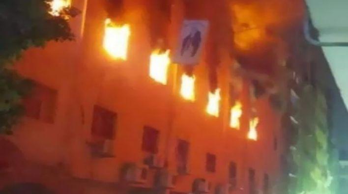 حريق كنيسة مارمينا بالعمرانية