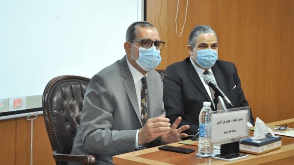 جامعة كفر الشيخ تناقش الاستعدادات لامتحانات الفصل الدراسي الثاني