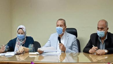 وكيل وزارة الصحة بالدقهلية يناقش آخر مستجدات مستشفيات العزل