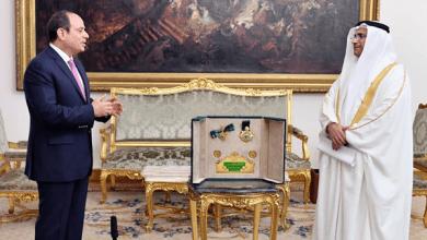 البرلمان العربي يمنح الرئيس عبد الفتاح السيسي وسام القائد
