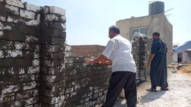 حملات مكثفة لإزالة الإشغالات والتعديات وتجميل الشوارع بمدينة كفر الشيخ