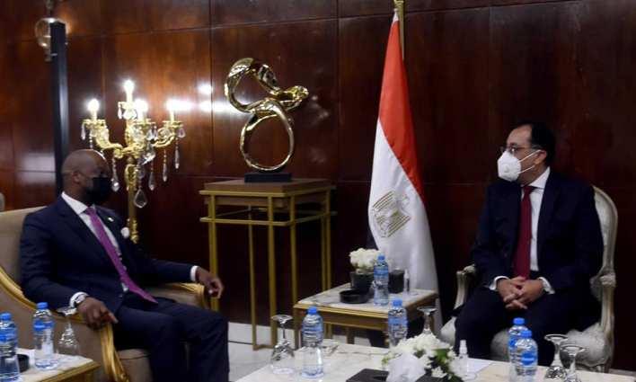 رئيس مجلس الوزراء يلتقي أمين عام سكرتارية منطقة التجارة الحرة القارية الأفريقية