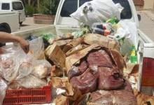 ضبط 500 دجاجة و30 كيلو كبدة مجهولة بمطعمين شهيرين في بيلا ودسوق
