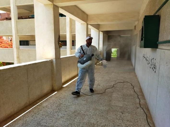 محافظ كفر الشيخ يتابع تطهير لجان الثانوية الأزهرية