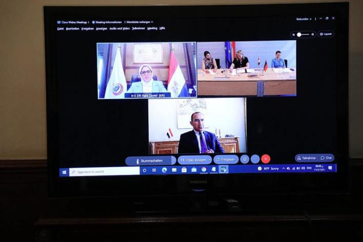 مصر وألمانيا يبحثان التعاون في مجال تبادل المعلومات الصحية