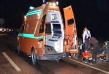 تصادم سيارة بتروسيكل بكفر الشيخ يسفر عن إصابة 8 أشخاص