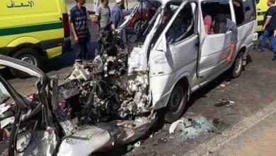 حادث تصادم سيارتين بكفر الشيخ يسفر عن إصابة 15 شخص