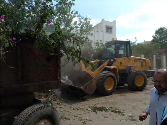 استمرار رفع كفاءة منظومة النظافة والإضاءة وتطهير الشوارع في مدينة بيلا
