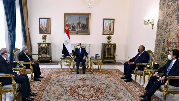 الرئيس عبد الفتاح السيسي يستقبل وزير خارجية الجزائر