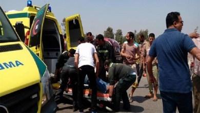 حادث تصادم سيارتين بكفر الشيخ يسفر عن إصابة 6 أشخاص