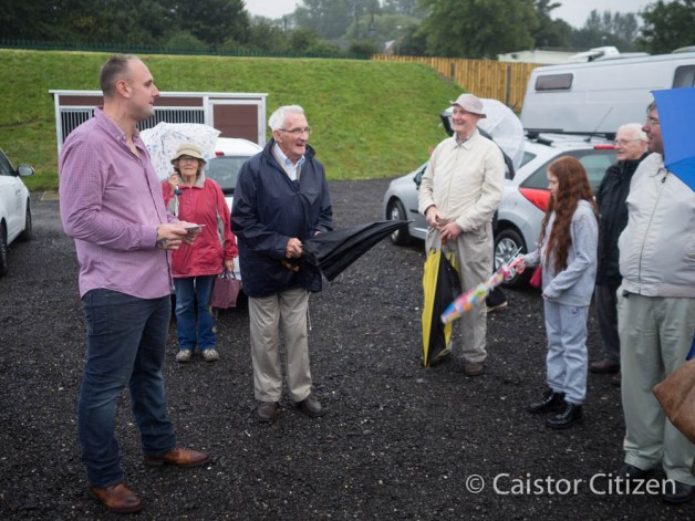 A great visit for The Civic Society. Chairman Laurie King thanked Andrew watched by Don Morgan who set the visit up