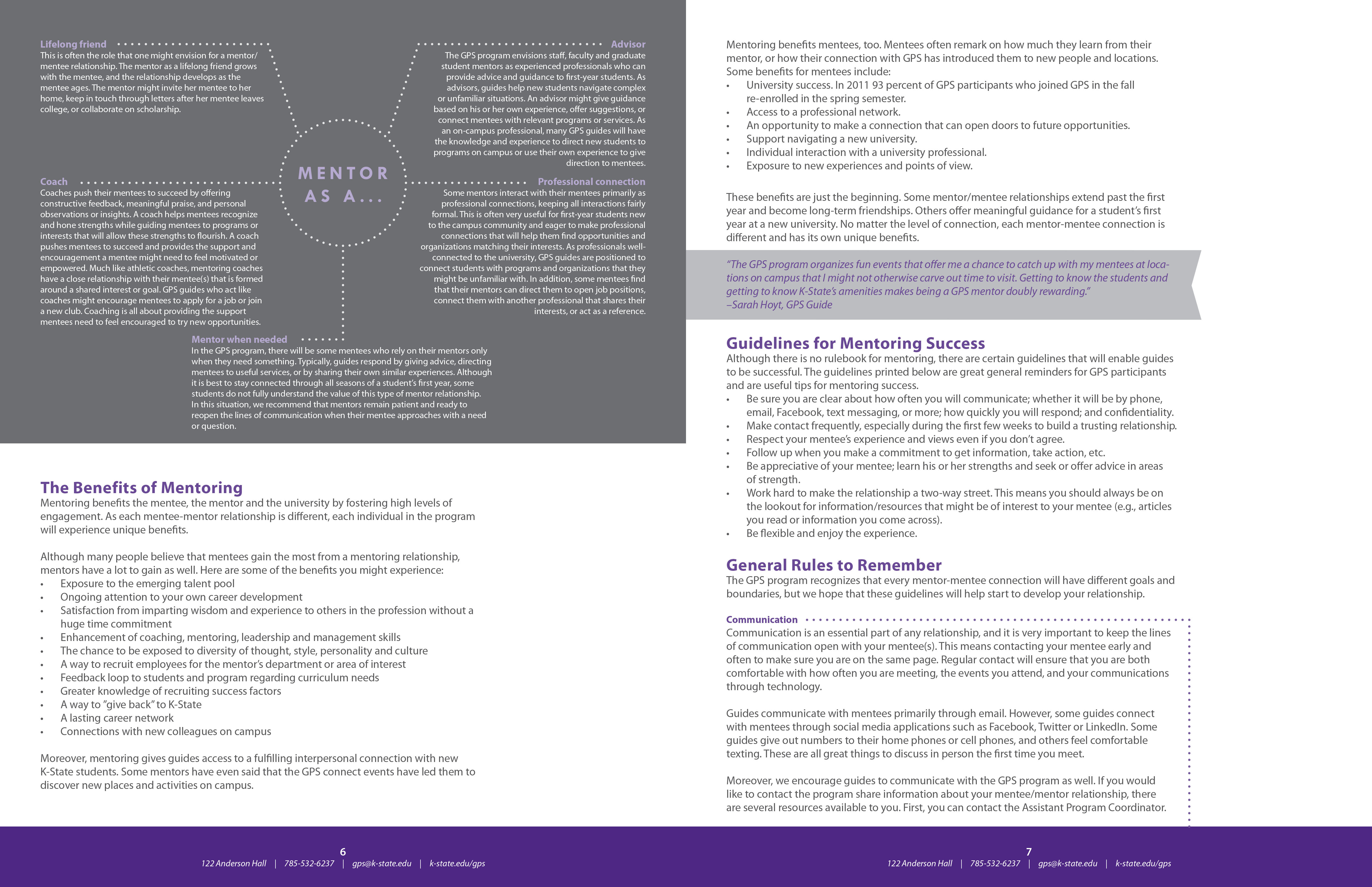 Check out the elements of the document below, or click here to download the PDF: K-State First GPS Manual