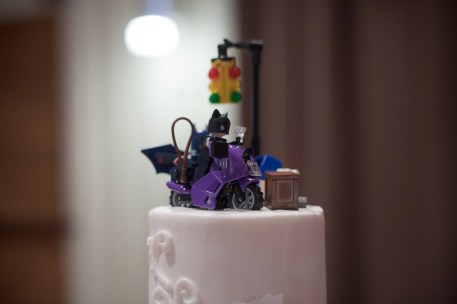 Catwoman and Batman lego cake toppers