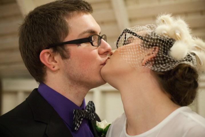 Scott and Spencer kissing