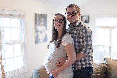 Maternity photos with Spencer and Scott