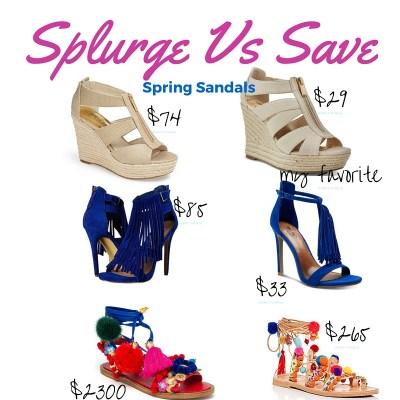 Save Vs Splurge Sandals!