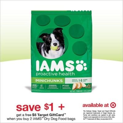 Save On IAMS Dog Food At Target