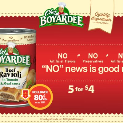 Save On Chef Boyardee At Walmart!