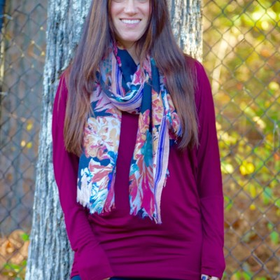 My Favorite Burgundy Top For Fall!