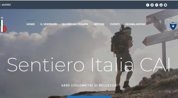 """On line il sito del """"Sentiero Italia CAI"""""""