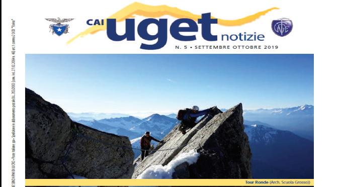 """""""CAI UGET NOTIZIE"""" DI SETTEMBRE – OTTOBRE 2019"""