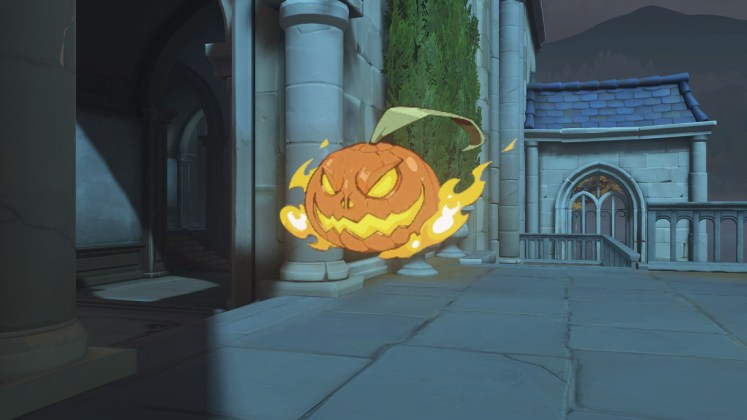 Spray calabaza llamas Halloween Terror 2018 Overwatch