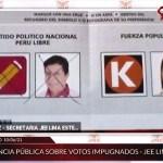 JEE anula voto a favor de Pedro Castillo en audiencia, pese a que era válido.
