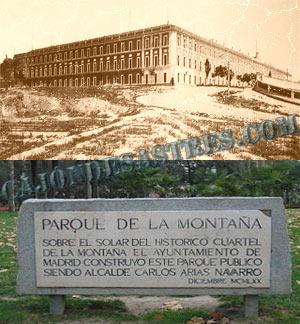 Cuartel de la Montaña, placa conmemorativa