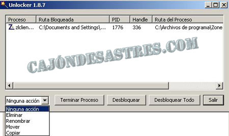 desbloquear archivos bloqueados