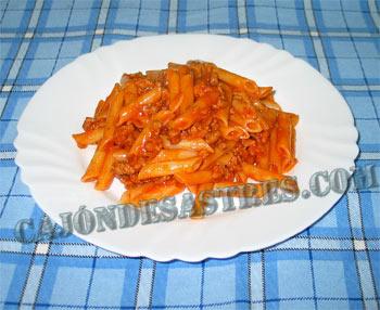 Receta de macarrones con carne, boloñesa