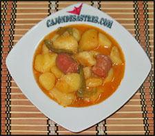 receta patatas con chorizo, patatas a la riojana