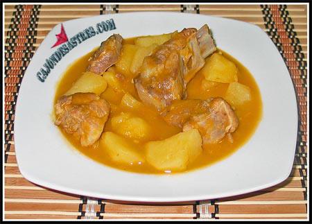 Guiso de costilla de cerdo con patatas cocina facil - Guiso de carne de cerdo ...