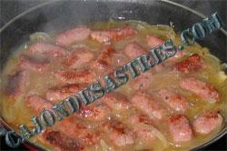 receta de salchichas en cebolla