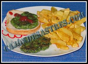 Receta de hamburguesa de espinacas