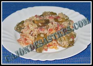 Receta de arroz con alcachofas, jamon y panceta