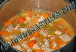 receta de lentejas estofadas con magro de cerdo