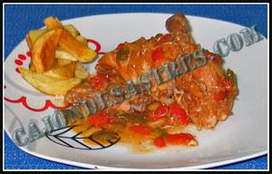 receta de pollo al chilindron