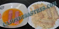 receta de rollitos de jamon cocido y queso empanados