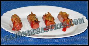 receta de rollitos de salchicha y bacon