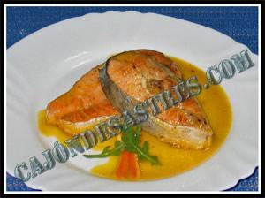 receta de salmon en salsa de naranja