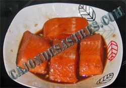 salmon en salsa de soja