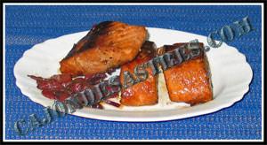 receta de salmon en salsa de soja con pimientos asados