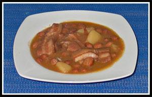 receta de alubias con panceta