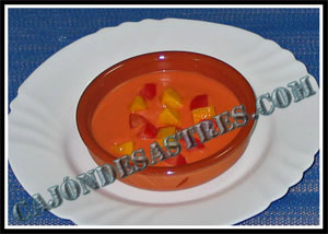 receta de gazpacho de nectarina