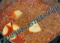 receta lentejas costilla adobada iberica
